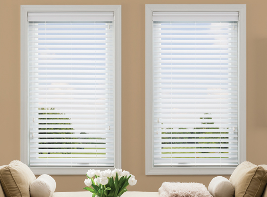 Wood Blinds In White