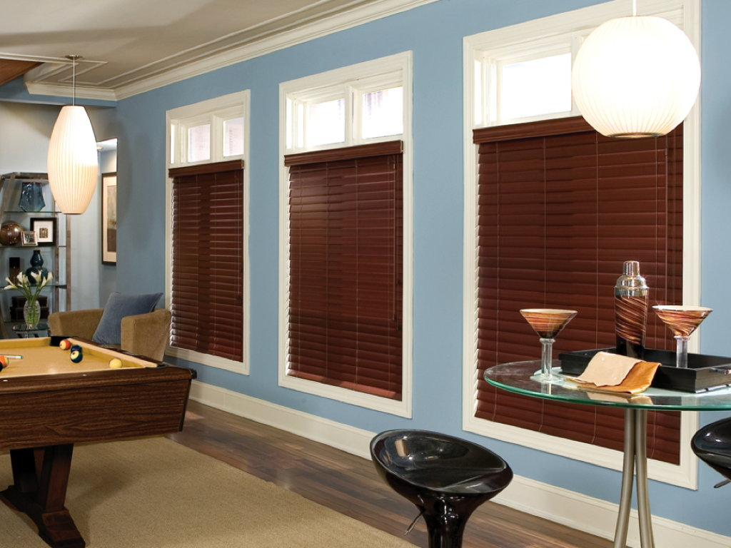 Stained Wood Blinds