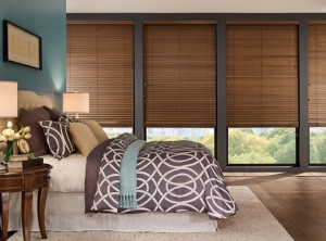 Wood Blinds in Light Oak