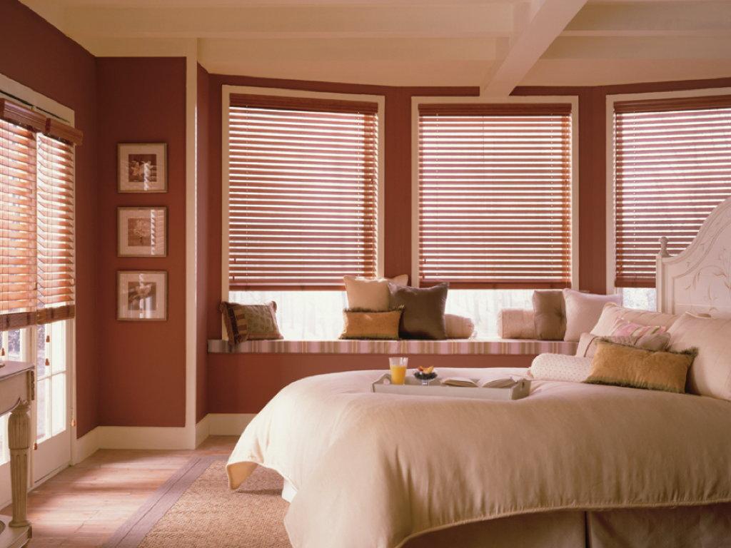 Master Bedroom Wood Blinds